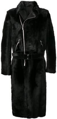 Emporio Armani zipped mid-length coat