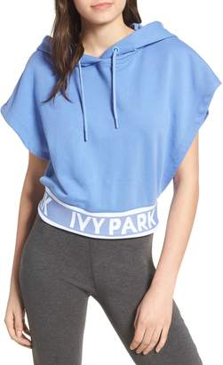 Ivy Park R) Backless Short Sleeve Hoodie