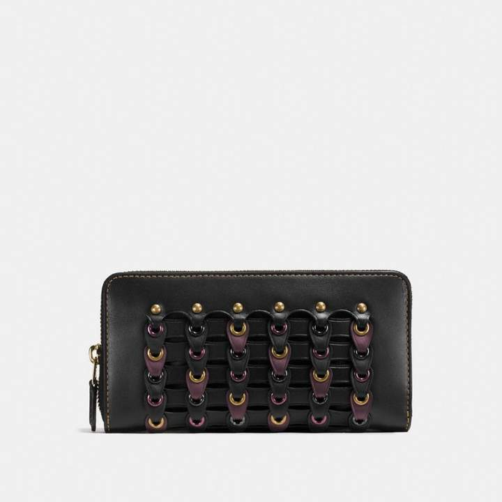Coach New YorkCoach Accordion Zip Wallet With Link - BLACK MULTI/BRASS - STYLE