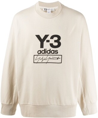 Y-3 stack logo crew neck jumper