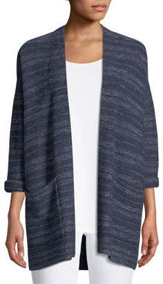 Eileen Fisher Striped Denim Kimono Cardigan