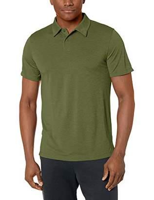 Peak Velocity Men's VXE Short Sleeve Quick-Dry Loose-Fit Polo T-Shirt