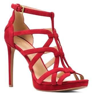 MICHAEL Michael Kors Women's Sandra Strappy Suede Platform High-Heel Sandals