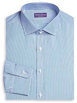 Ralph Lauren Purple Label Men's Slim-Fit Bond Barrel Stripe Dress Shirt