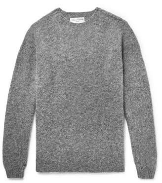 Officine Generale Mélange Shetland Wool Sweater