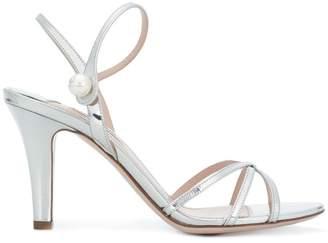 Miu Miu pearl embellished strappy sandals