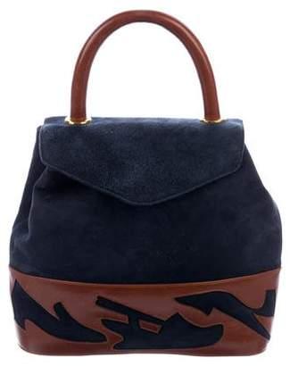 Salvatore Ferragamo Leather & Suede Satchel