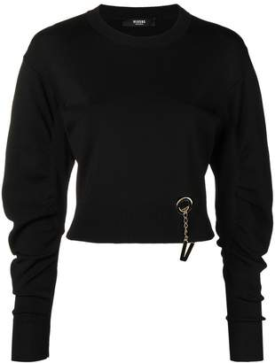 Versus logo embellished knit sweater