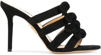 Charlotte Olympia 'Blyton' bow embellished mules