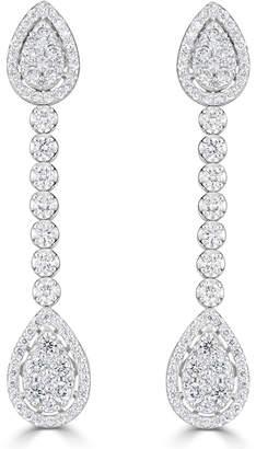 Neiman Marcus Diamonds 14k Pear-Shaped Diamond Dangle Earrings