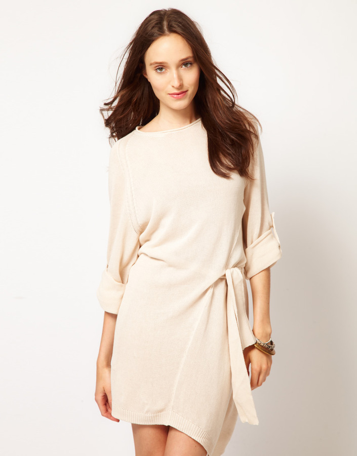 JNBY Long Sleeve Dress With Knot Detail