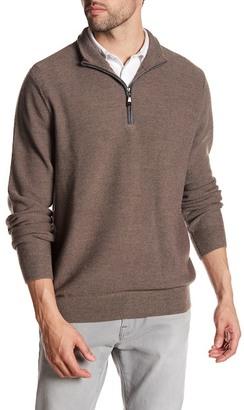 David Donahue Quarter Zip Long Sleeve Pullover $225 thestylecure.com