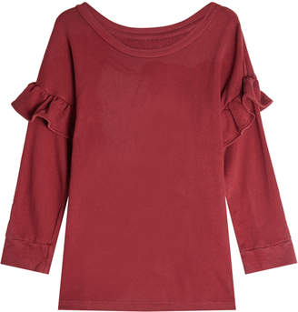 Current/Elliott Cotton Top with Ruffles