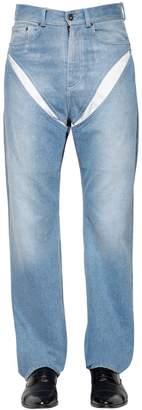 Y/Project Cut-Out Cotton Denim Jeans