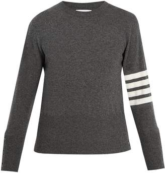Thom Browne Striped-detail cashmere sweater