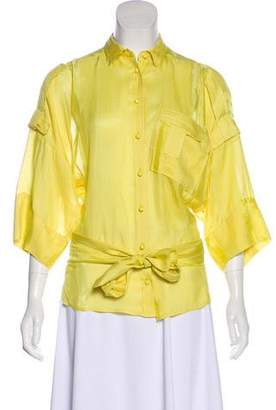Antonio Berardi Long Sleeve Button-Up Top