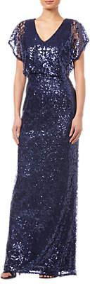 Adrianna Papell Sequin Blouson Dress, Midnight