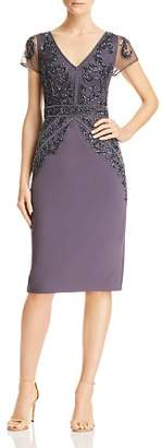 Adrianna Papell Embellished Crepe Dress