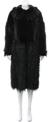 Oscar de la Renta Mink & Fox Fur Coat w/ Tags