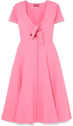 DAY Birger et Mikkelsen STAUD - Alice Tie-front Cotton-blend Poplin Dress - Pink