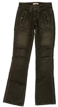 Joie Corduroy Mid-Rise Wide-Leg Jeans w/ Tags