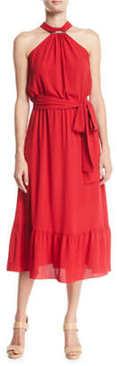 MICHAEL Michael Kors Halter Ruffle Dress