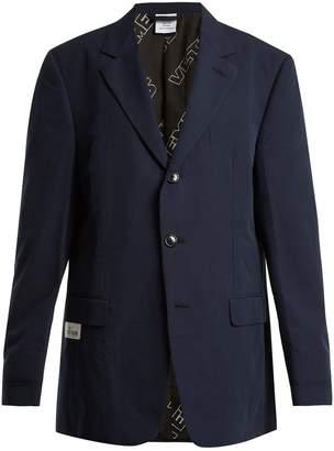 Vetements Oversized single-breasted cotton blazer