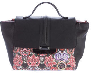 Rebecca Minkoff Printed Saffiano Leather Satchel $175 thestylecure.com