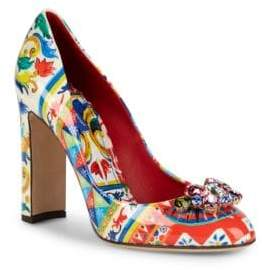 Dolce & Gabbana Embellished Block-Heel Pumps