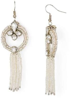Area Stars Portier Beaded Tassel Drop Earrings