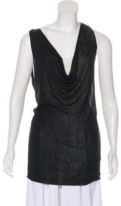 Ann Demeulemeester Sheer Sleeveless Top