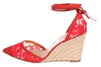 Valentino d'Orsay Wedge Sandals
