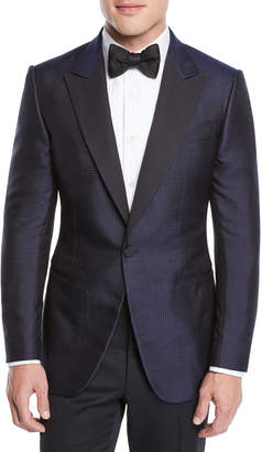 Ermenegildo Zegna Men's Dotted Shawl-Collar Tuxedo Jacket