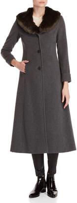 Lauren Ralph Lauren Faux Fur Collar Maxi Coat