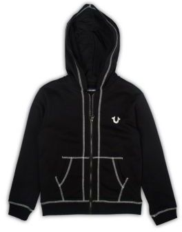 True Religion Boy's Cotton French Terry Logo Hoodie $79 thestylecure.com