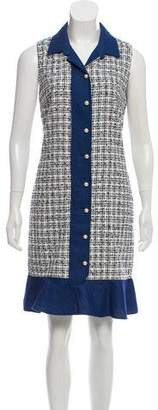Karl Lagerfeld Bouclé Knit Sleeveless Dress
