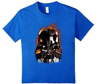 Star Wars Darth Vader With Flames Graphic T-Shirt