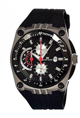Danish Design (ダニッシュ デザイン) - デンマークデザインiq13q739ラバーバンドブラックダイヤルスポーツMan 's Watch
