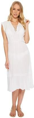 Splendid Tie Front Dress Cover-Up Women's Swimwear