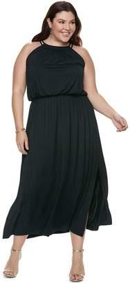 Apt. 9 Plus Size Strappy Blouson Maxi Dress