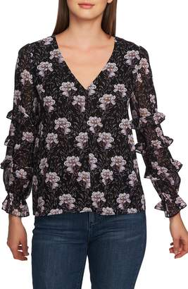 1 STATE 1.STATE Bloomsbury Floral Ruffle Top