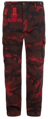 Valentino Camouflage Cargo Trousers