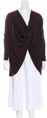 AllSaints Knit Draped Long Sleeve Top