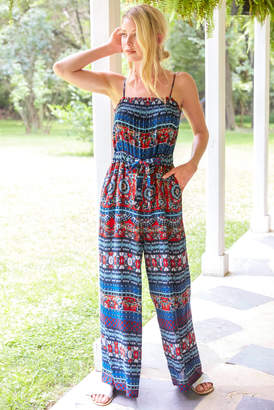 Patrons Of Peace Mixed Print Jumpsuit Multi S
