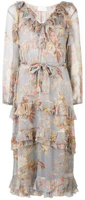 Zimmermann tiered floral print dress