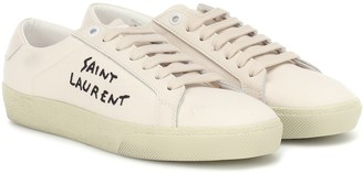Saint Laurent Court Classic embroidered sneakers