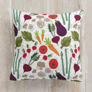 Fun Veggies Square Pillow