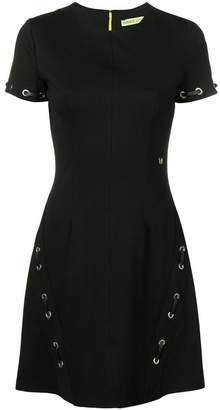 Versace cross-strap skater dress