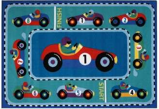 Fun Rugs Olive Kids Vroom Rug