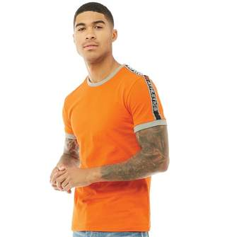 Superdry Mens Stadium Ringer T-Shirt Stadium Orange